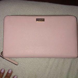 Kate spades pink  passport wallet